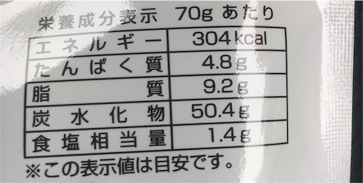 海鮮せんべいうまぴー_栄養成分表