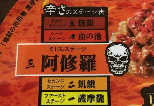 護摩龍-辛さのステージ表