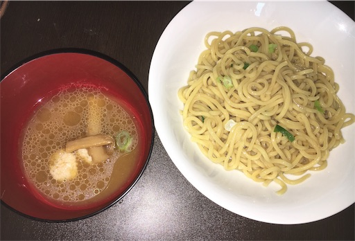 一燈のつけ麺(冷凍)・盛り付け