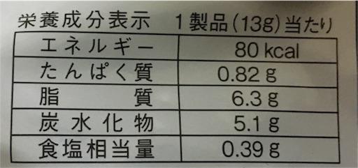 超魔王唐辛子-栄養成分表示